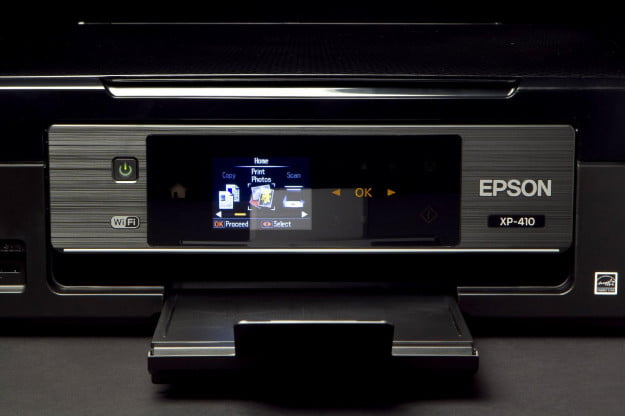 Epson Stylus TX410 front screen
