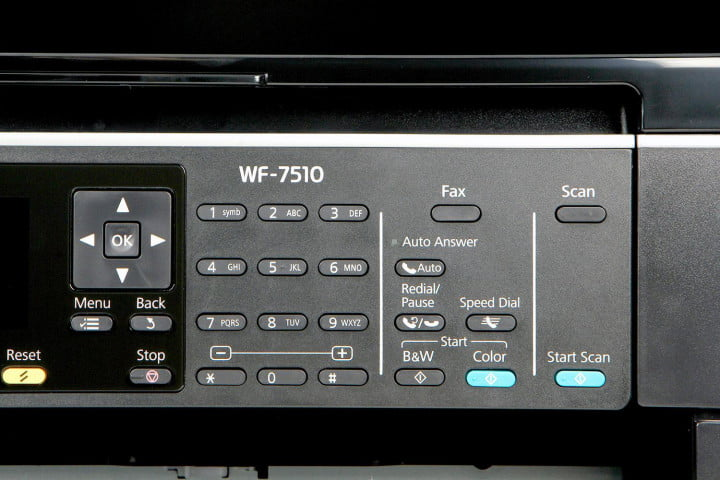 epson workforce wf  review front dial controls