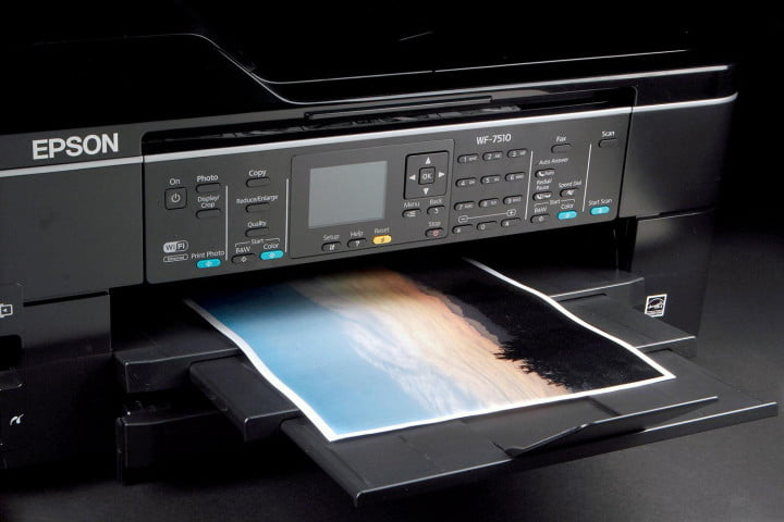 epson workforce wf  review front printing