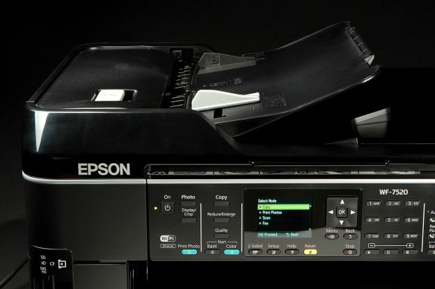 EPSON WF 7520 Printer top buttons