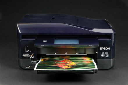 EPSON XP 820 front tray