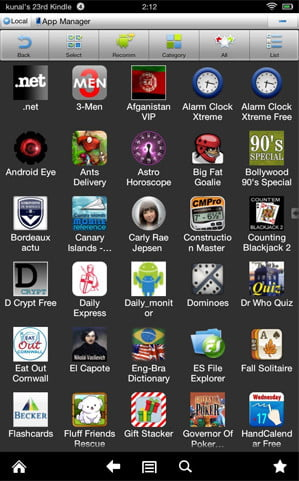 ES File explorer screenshot kindle fire app