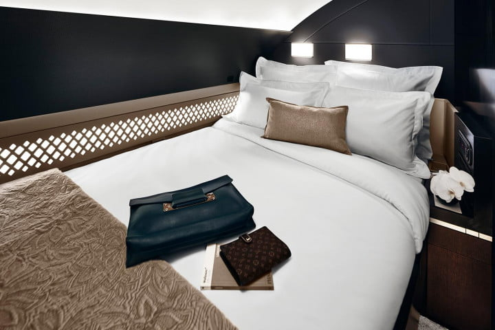 etihad airways puts apartment inside an a  as part of luxury travel service the residence bedroom
