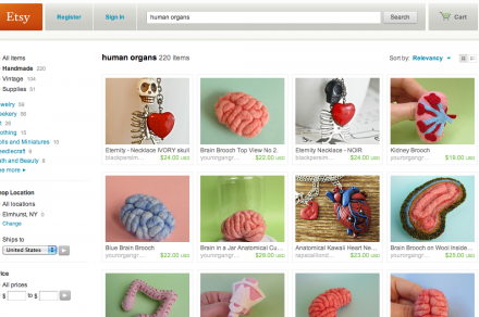 Etsy policy guidelines ban human organs