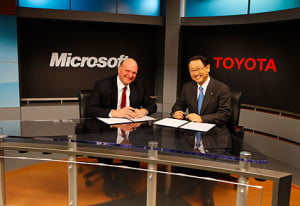 Microsoft and Toyota Azure services
