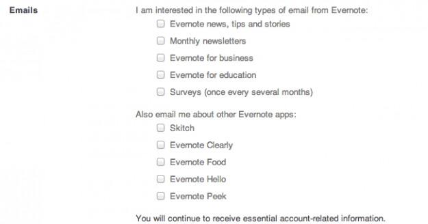 Evernote marketing