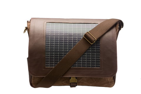 evolve elston solar charger messenger bag