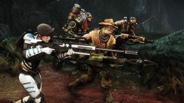 multiplayer shooter evolve will be free to play on pc starting today  feb screenshot ( )