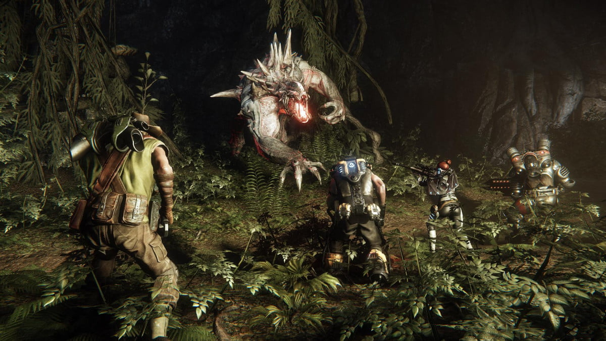 four hunters one monster see angles evolves new interactive trailer evolve  feb screenshot ( )
