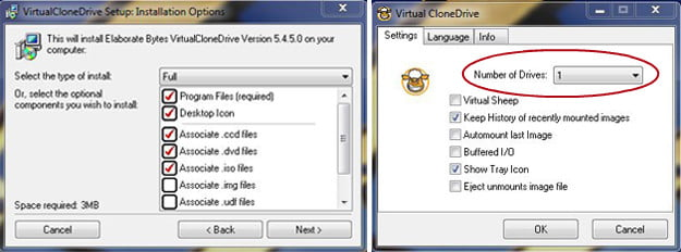 How to mount an ISO: Virtual Clone Drive