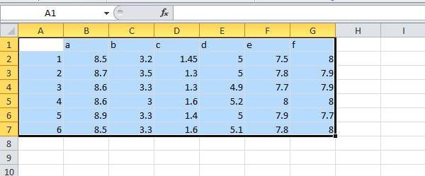 Cells highlighted in Excel