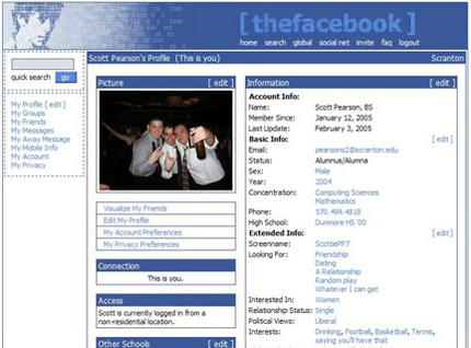 the history of social networking facebook
