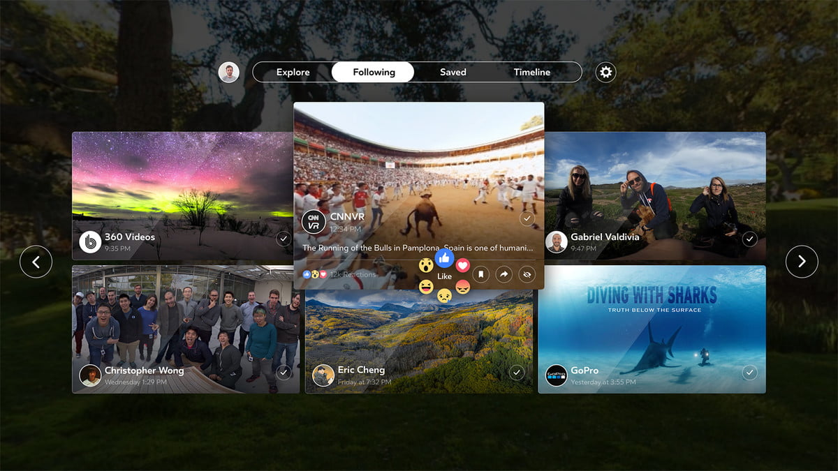 facebook vr launches  grid copy