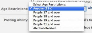Facebook age limits