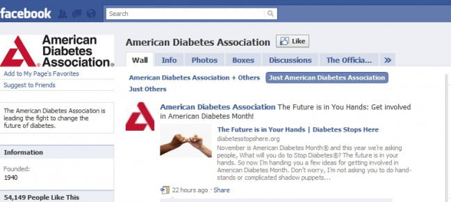 facebook-american-diabetes-association-page