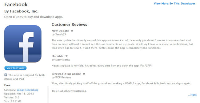 facebook-for-iphone-reviews