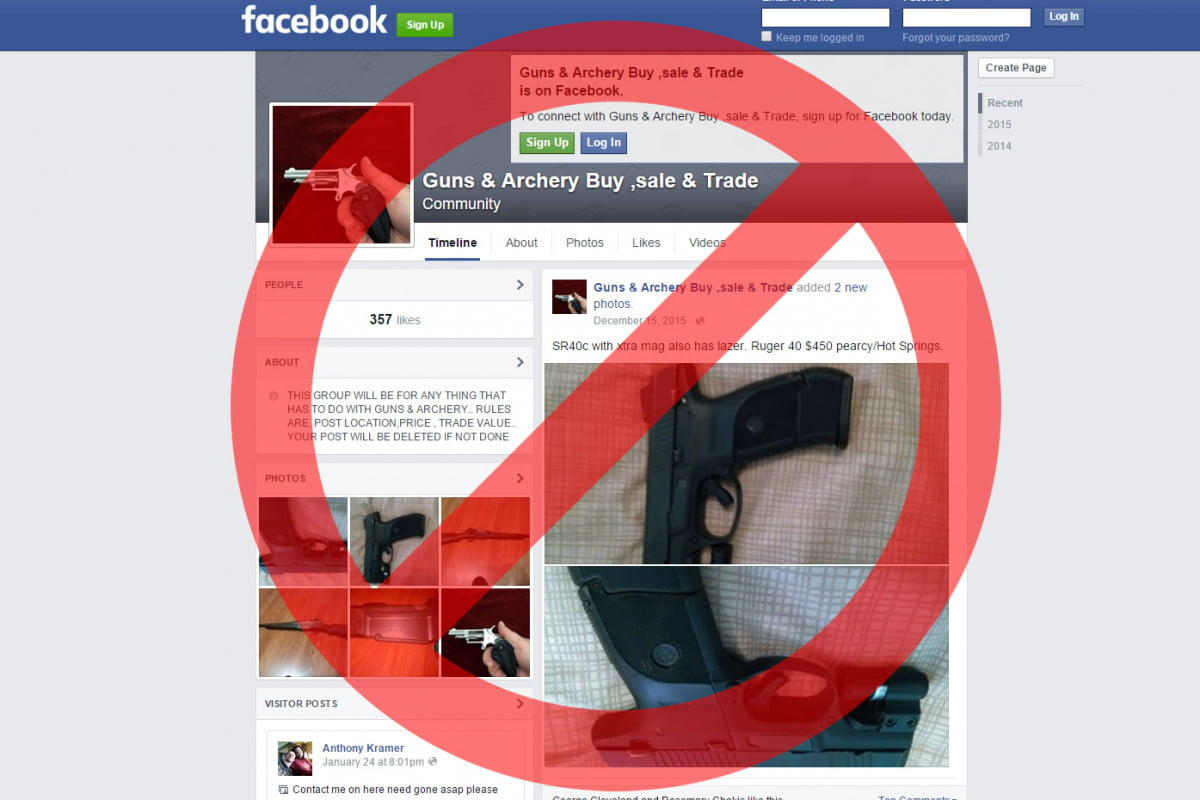 private gun sales are now banned on facebook instagram