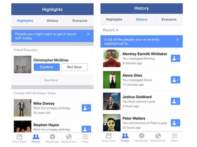 facebook testing new highlights feed