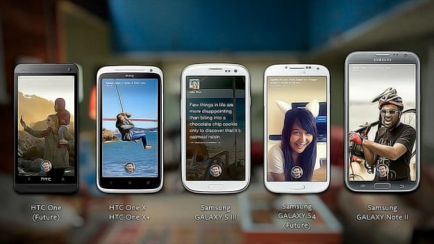 Facebook Home Smartphones