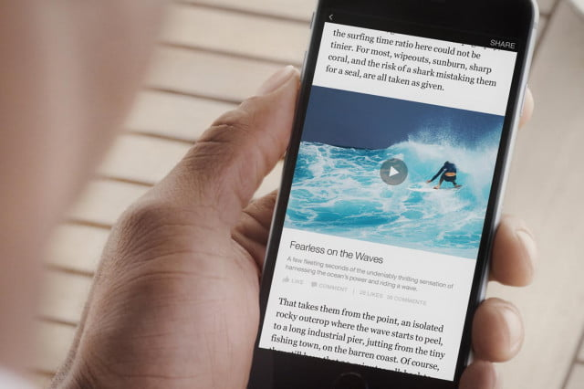 facebook instant articles launch on iphone