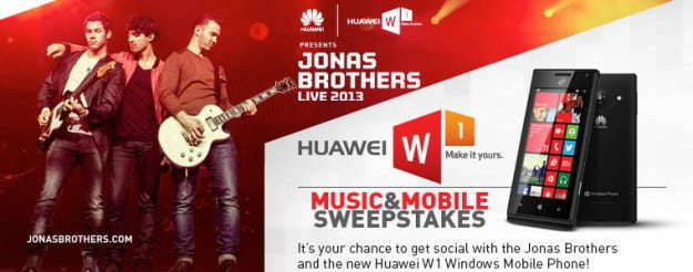 Facebook Jonas brothers Huawei contest