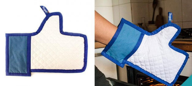 Facebook Like oven mitt thumbs up