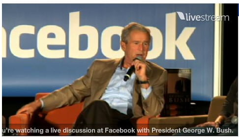 facebook live on bush