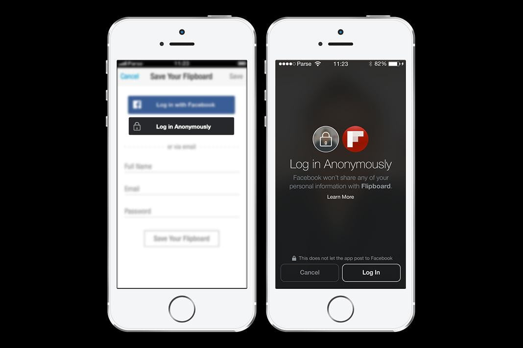 facebook anonymous login button log in anonymously flipboard