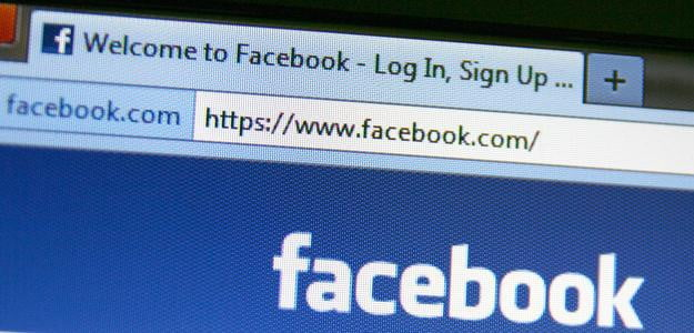 Facebook login page article main header