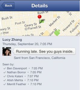 Facebook Messenger iOS 6
