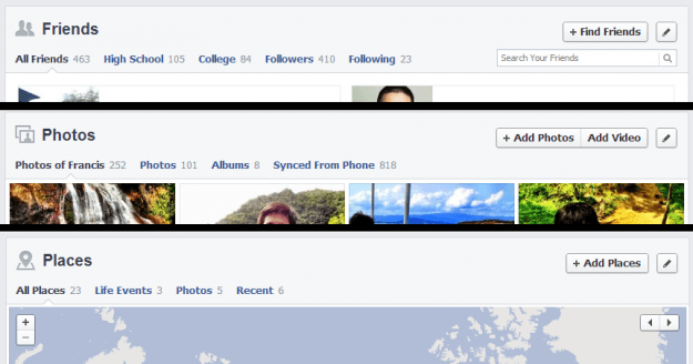 facebook new timeline inline navigation