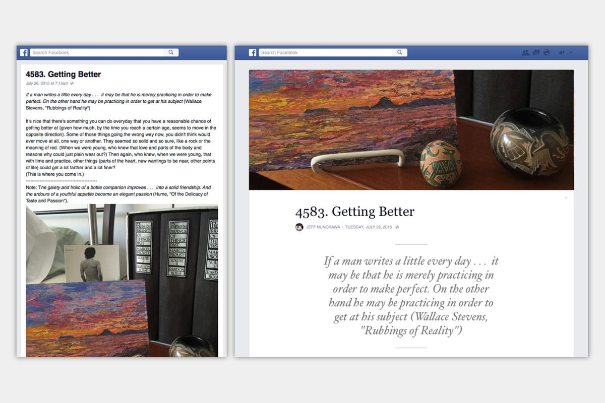 facebook rolls out its notes upgrade to encourage more blogging before and after