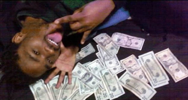 Facebook posing money photo