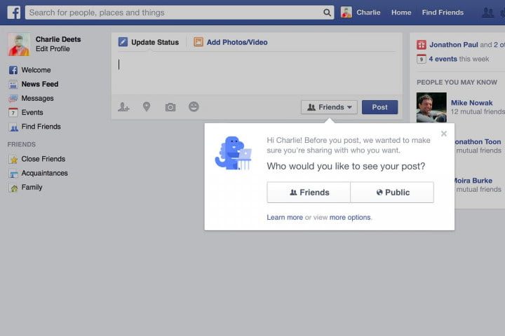 facebook offers privacy checkup changes default posting settings