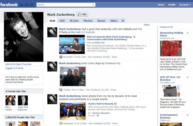 facebook-profile-redesign-zuckerberg-2010-olddesign