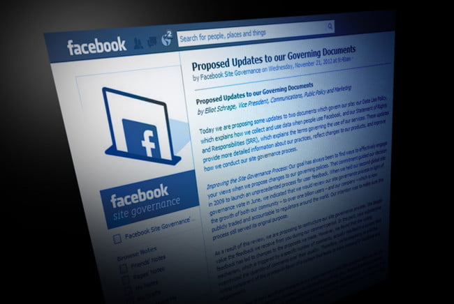 facebook proposed updates to governing documents