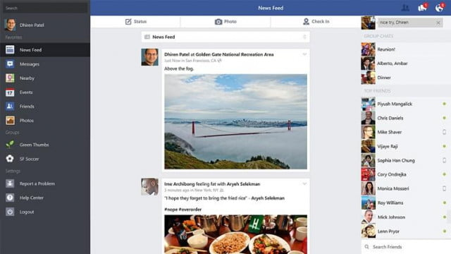 facebook windows  gets slew new features screenshot