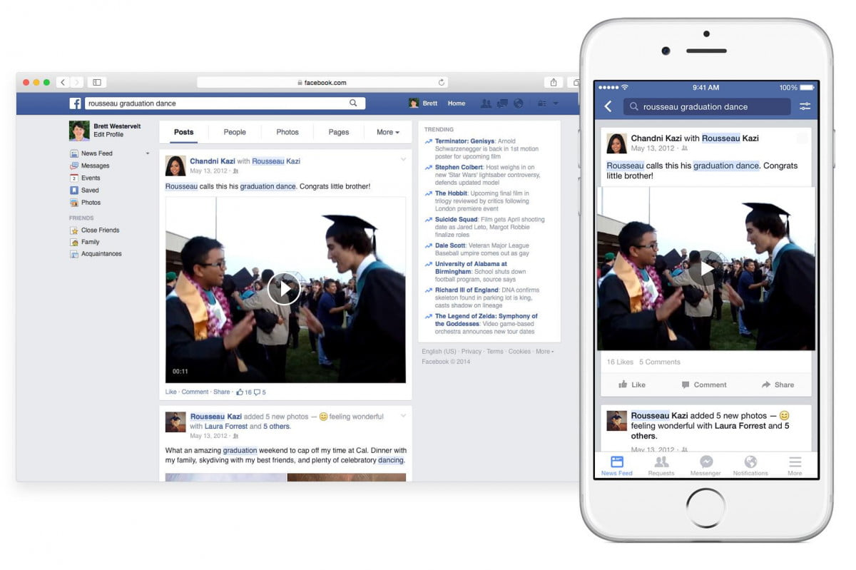 facebook search now lets relive old status updates posts