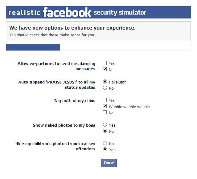 facebook security simulator - 2
