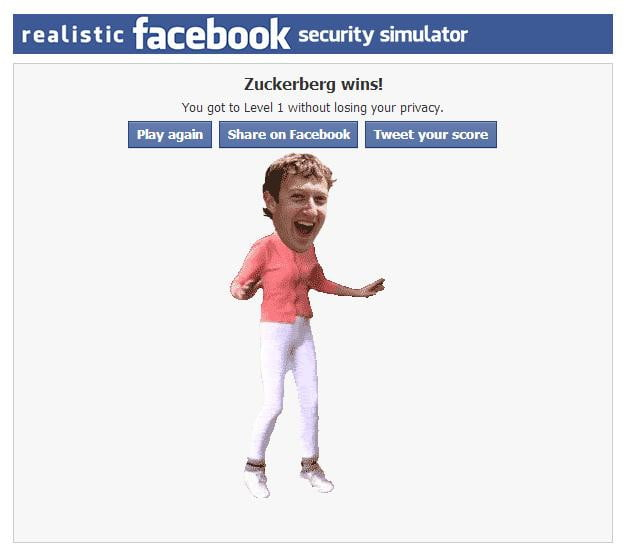 facebook security simulator - zuckerberg dance