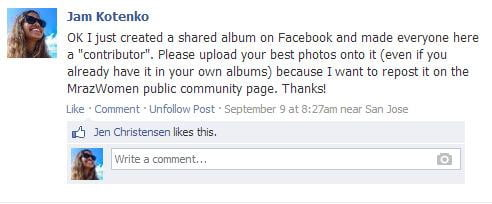 Facebook Shared Albums - Instructions