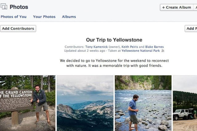 facebook debuts shared photo albums via mashable