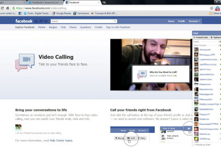 Facebook-Skype-launch-page