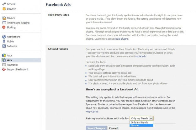 facebook social ad opt out