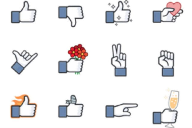 facebook favorite hacks  sticker thumbs up