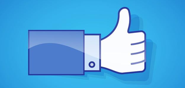 facebook thumbs up social media like