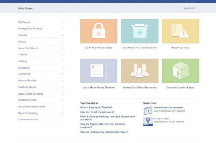 facebook updated help center