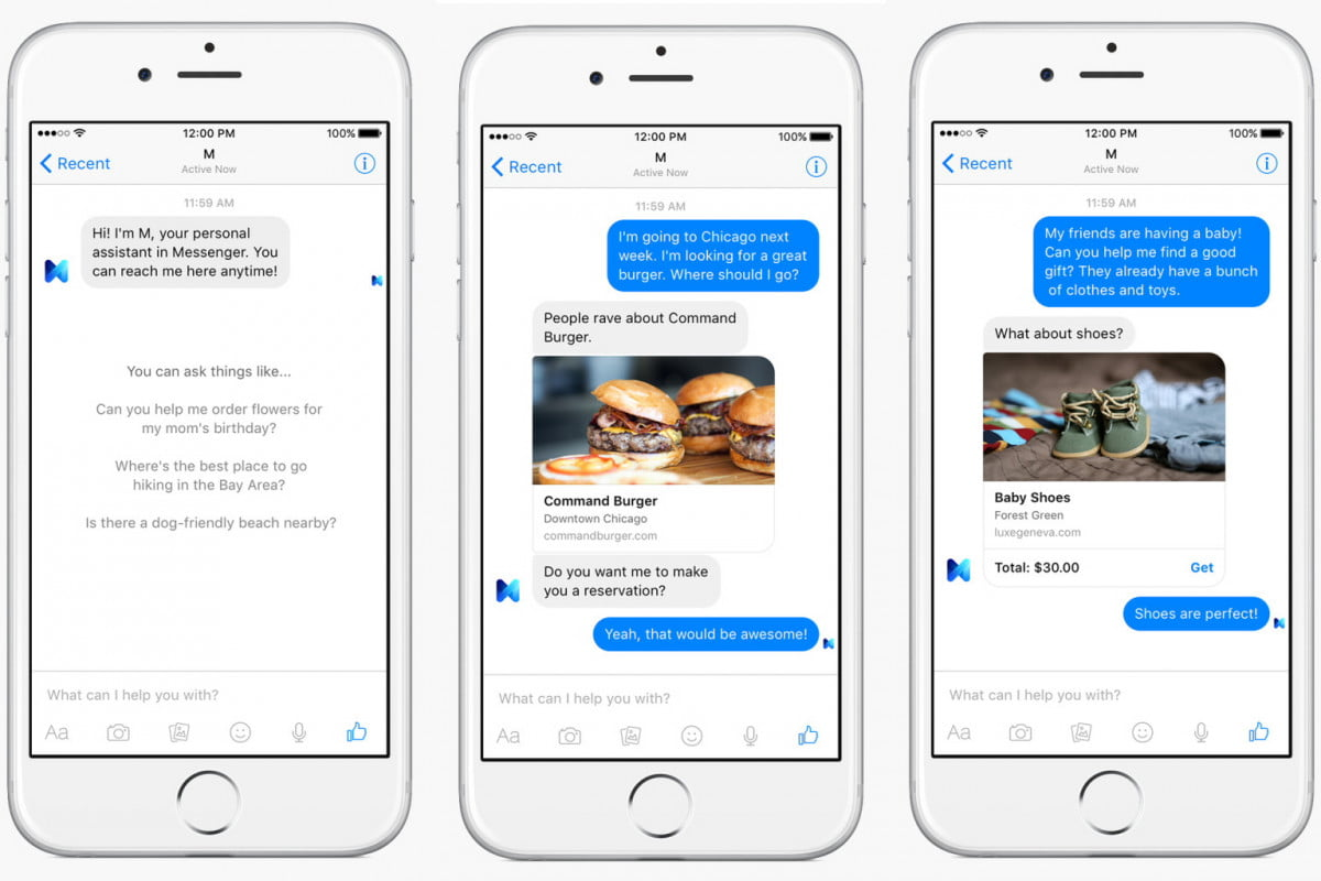 facebook launches m a virtual assistant with human element screenshots