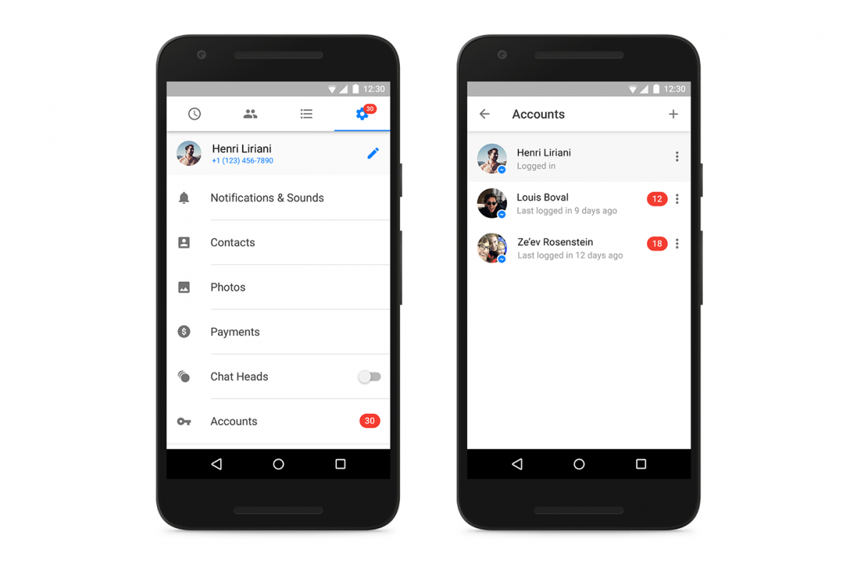 facebook messenger for android supports multiple accounts keeps messages private
