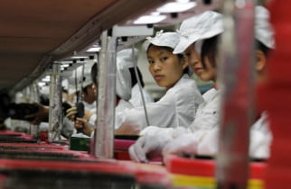 iPhone factory workers